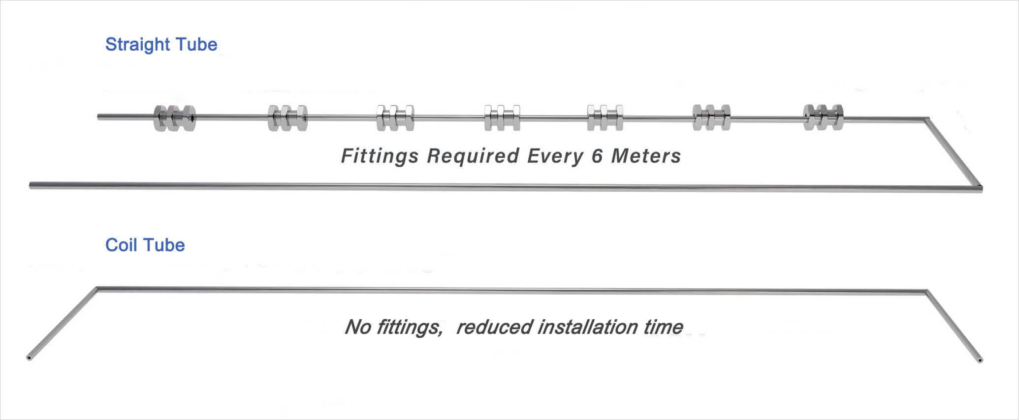 coil tube vs straight tube