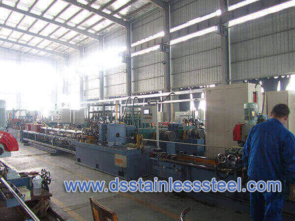 welded stainless steel tube production