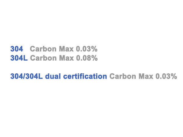 304 304L Dual Certified Stainless Steel